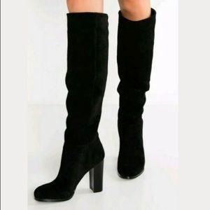 Sam Edelman Victoria Knee High Black Suede 8.5